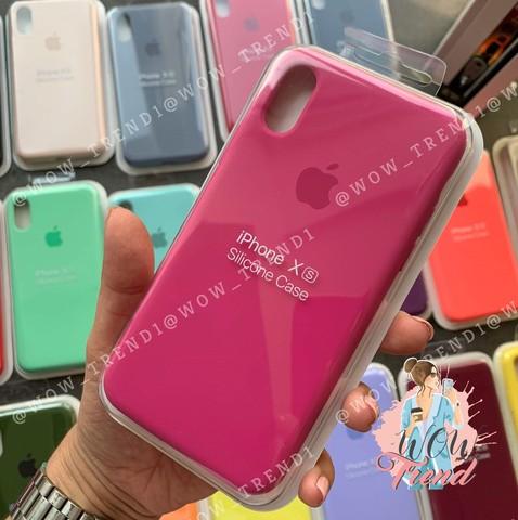 Чехол iPhone 7+/8+ Silicone Case Full /dragon fruit/ тёмная фуксия
