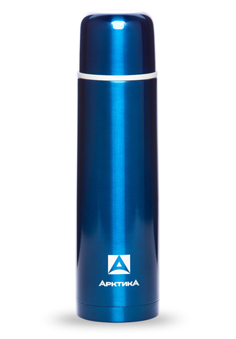 Термос Арктика (1 литр) с узким горлом классический, синий