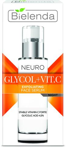 NEURO GLICOL+VIT.C Отшелушивающая нейтропептидная омолаживающая сыворотка ночная 30мл