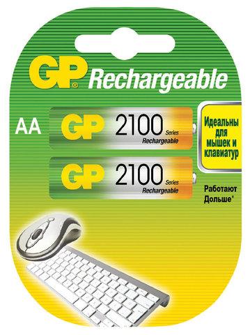 Аккумуляторы GP 210ААHC-U2 Ni-MH АА, R6, 1, 2V, 2100mAh