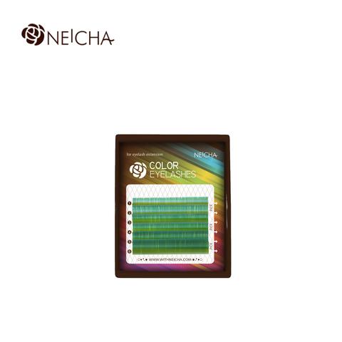 Ресницы NEICHA нейша цветные 6 линий MIX лазурный
