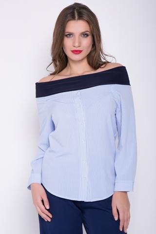 <p>Ультромодная рубашка со спущенным плечом. Модель эффектно подчеркнет Вашу женственность и индивидуальность.</p>