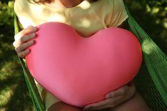 Подушка-игрушка антистресс «Большое розовое сердце» 4