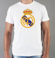 Футболка с принтом FC Real Madrid (ФК Реал Мадрид) белая 008