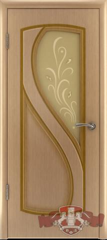 Дверь 10ДО1 (светлый дуб, остекленная шпонированная), фабрика Владимирская фабрика дверей