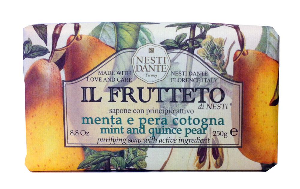 IL FRUTTETO Mint & Quince pear / Мята и айвовая груша мыло 250 гр