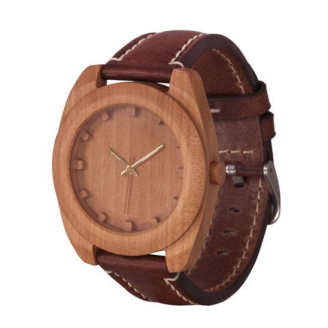 Часы из дерева AA Wooden Watches Вудкьюб Груша