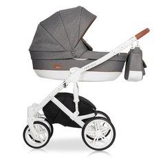 Детская коляска RIKO NATURO 2в1 цвет 04 коричневый-серый
