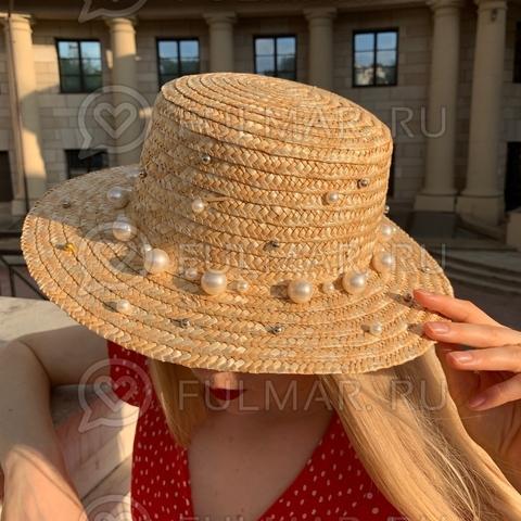 Соломенная канотье женская шляпа