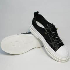 Кроссовки под туфли на белой подошве El Passo sy9002-2 Sport Black-White.