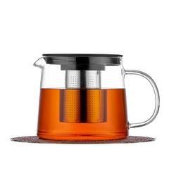Чайник заварочный 1 л стеклянный из жаростойкого стекла с фильтром колбой для чая