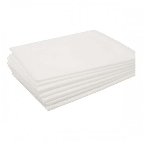 Простыня одноразовая эконом, белая, 200Х80 см., 20 шт.
