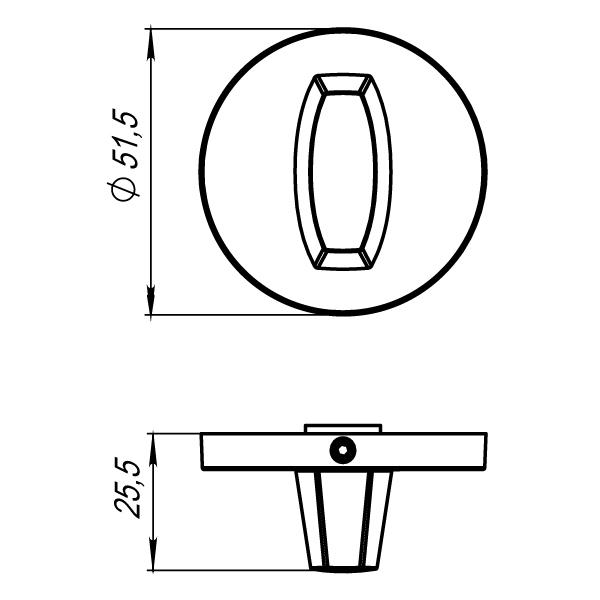 Ручка поворотная Armadillo WC-BOLT BK6 URS