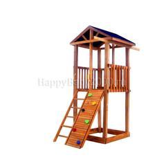 Детская площадка М2-0 с узким скалодромом и тентовой крышей