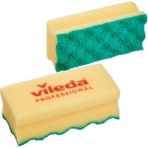 Губки для мытья посуды и уборки Vileda Professional ПурАктив 140х63х45 мм 2 штуки в упаковке желтые (арт. производителя 150329)