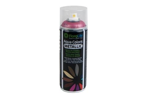 Спрей Краска Floralife 400мл Aqua красный металлик