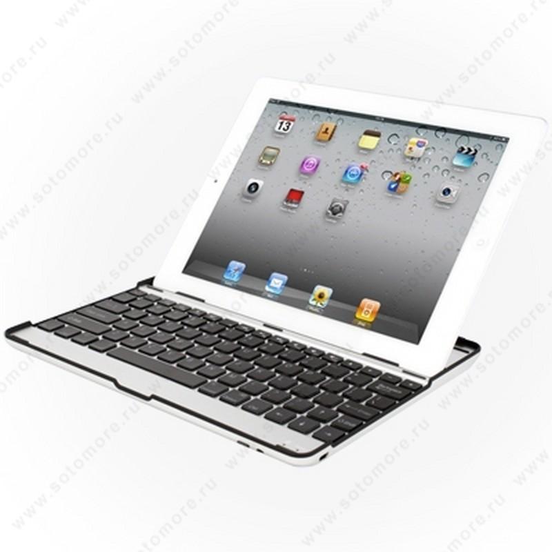 Клавиатура для iPad 4/ 3/ 2 Mobile bluetooth keyboard черная с русскими буквами