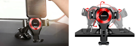 Автомобильный держатель Baseus Osculum Type Gravity Car Mount Black+red