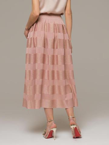 Женская юбка миди розового цвета - фото 2