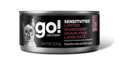 Консервы беззерновые для кошек с чувствительным пищеварением, GO! Sensitivities Limited Ingredient GF Lamb Pate CF, с ягненком
