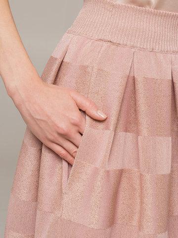 Женская юбка миди розового цвета - фото 4