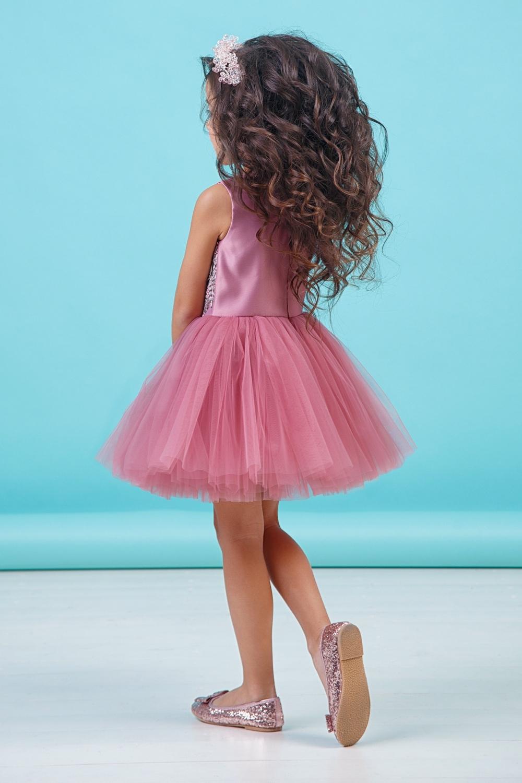 Платье пудровое для девочки 38-9001-6