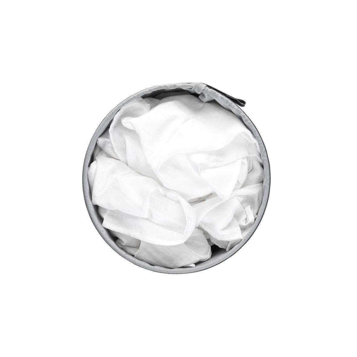 Бак для белья с пластиковой крышкой (35 л), Белый, арт. 304866 - фото 1
