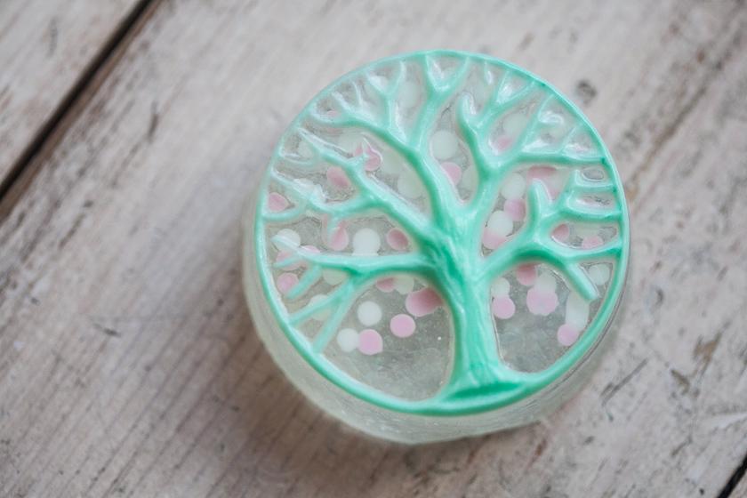 Мыло Дерево в круге. Пластиковая форма