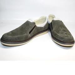 Лоферы кожаные мужские IKOC 3394-3 Gray