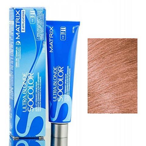 Matrix socolor beauty крем краска для волос экстра блонд, UL-Bronze металлический ультра осветляющий оттенок