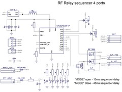 PA LNA TRX TRCVR RF Relay Sequencer, 4 ports/3 events