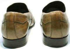 Коричневые кожаные туфли мужские Mariner 12211 Light Brown.