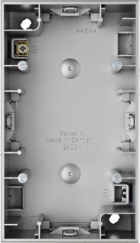 Коробка на 2 поста для наружного монтажа. Цвет Алюминий. Berker (Беркер). K.5. 10427003