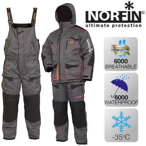 Костюм рыболовный зимний NORFIN Discovery Gray 451104-XL-L
