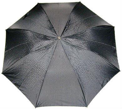 Зонт складной Pasotti Leopardo Leather handle