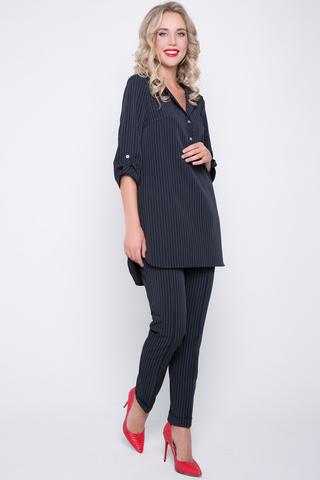 """<p>Костюм """"Твилла"""" шикарный летний комплект для модницы! Прямые брюки на резинке отлично сочетаются с эффектной длинной туникой. Рукав 3/4 с """"патой"""".</p>"""