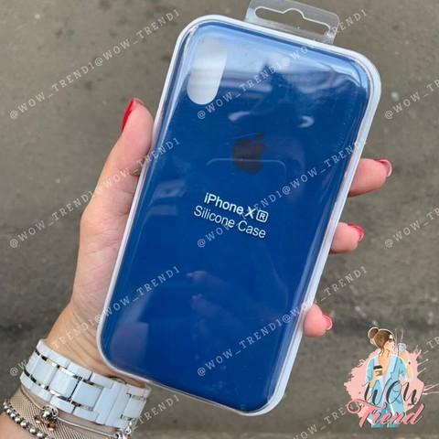 Чехол iPhone XR Silicone Case /delft blue/
