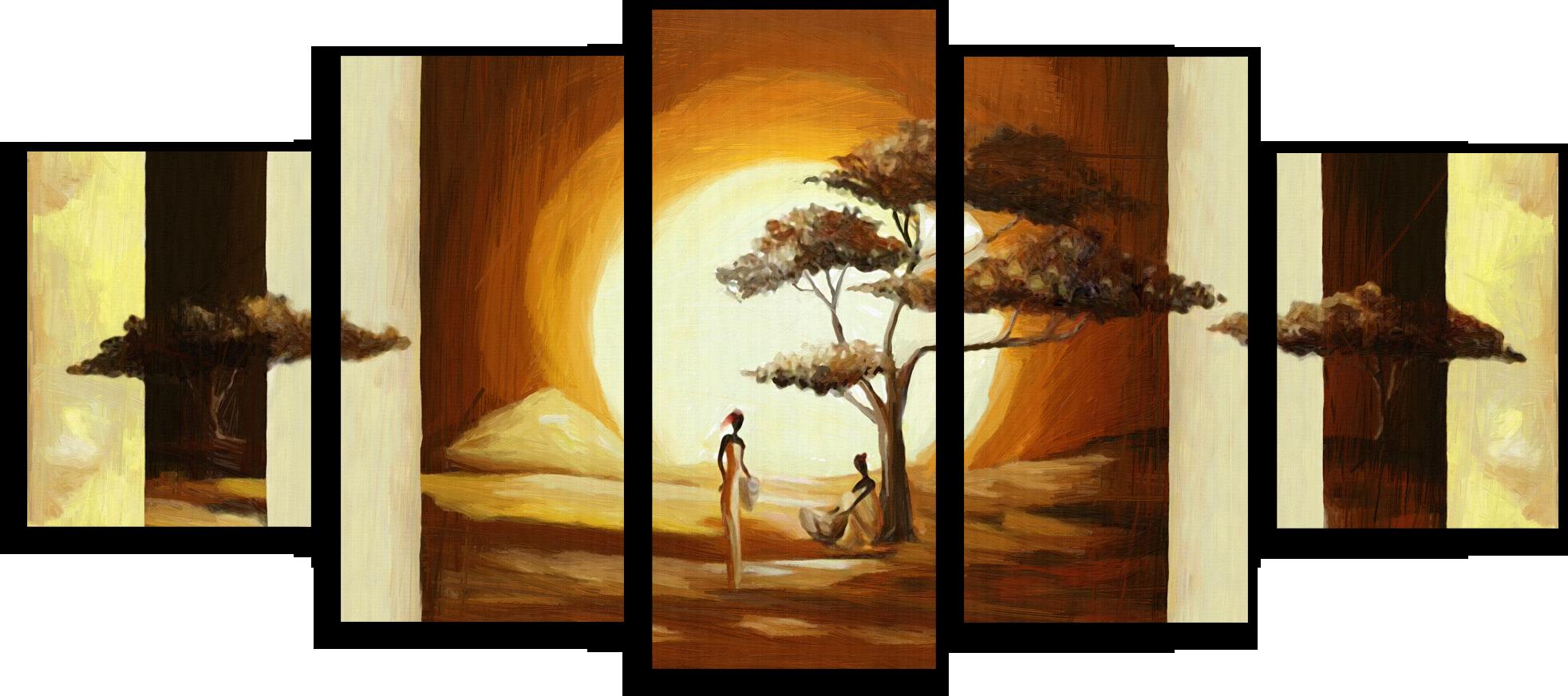 """Модульные картины Модульная картина """"Дерево на закате"""" М186.png"""