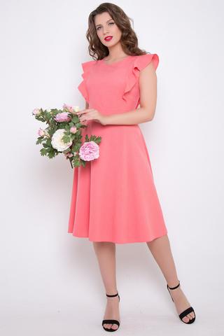 <p>Это платье заслуживает бурных оваций! Изысканные цвета, приталенный силуэт и воздушные крылышки делают образ неотразимым. Юбка - клеш, по спинке - замок. (Длины: 44-102см; 46-104см, 48-50= 106см)&nbsp;</p>
