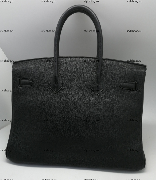 Женская черная сумка Hermes Birkin 35 togo