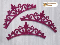 Заготовка Корона цветочная перфорация малиновая (опт)
