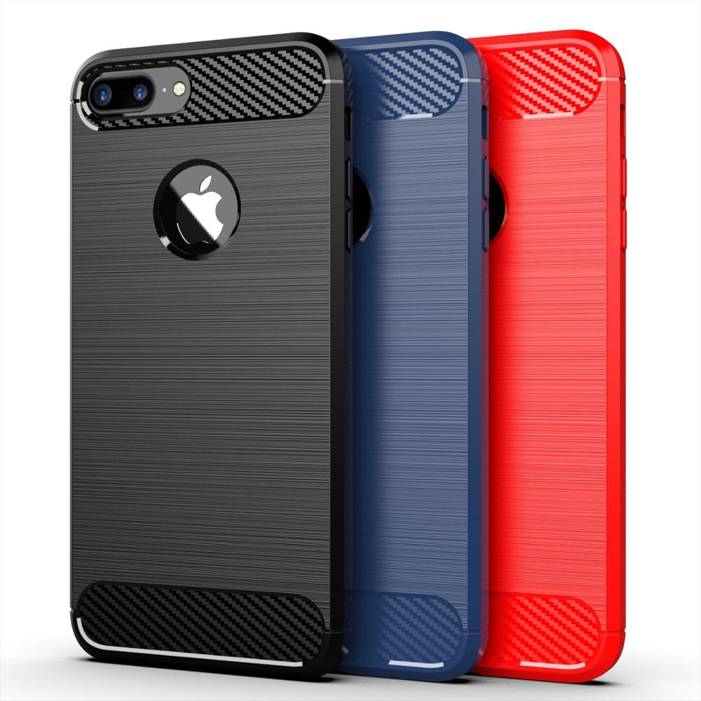 Чехол iPhone 7 Plus цвет Blue (синий), серия Carbon, Caseport