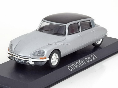 Citroen DS 21 silver-black 1:43 DeAgostini Masini de legenda #65