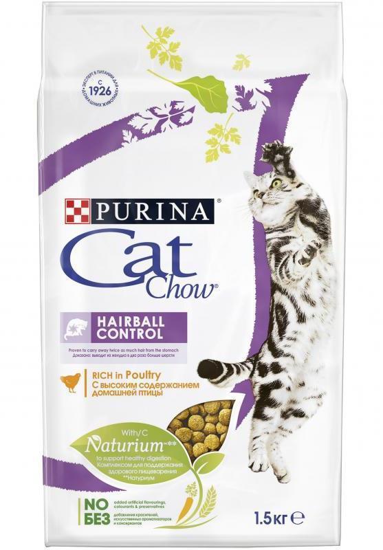 Purina Cat Chow Корм для кошек, Purina Cat Chow HairBall Control, с контролем образования комков шерсти, с домашней птицей с_контролем_образования_комков_шерсти_в_ЖКТ__домашняя_птица.jpg