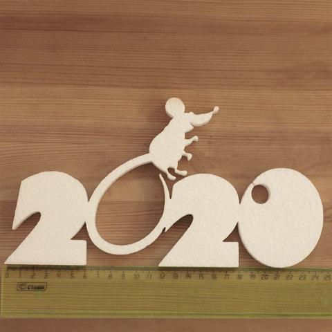 2020 с мышью из пенопласта цифры