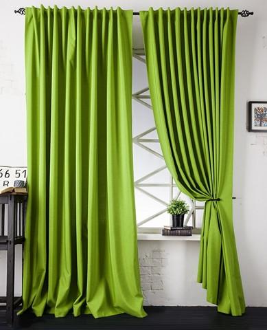 Комплект штор с подхватами Джейн зеленый