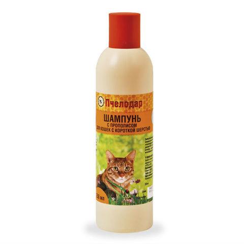 купить Пчелодар гигиенический шампунь с прополисом для короткошерстных кошек