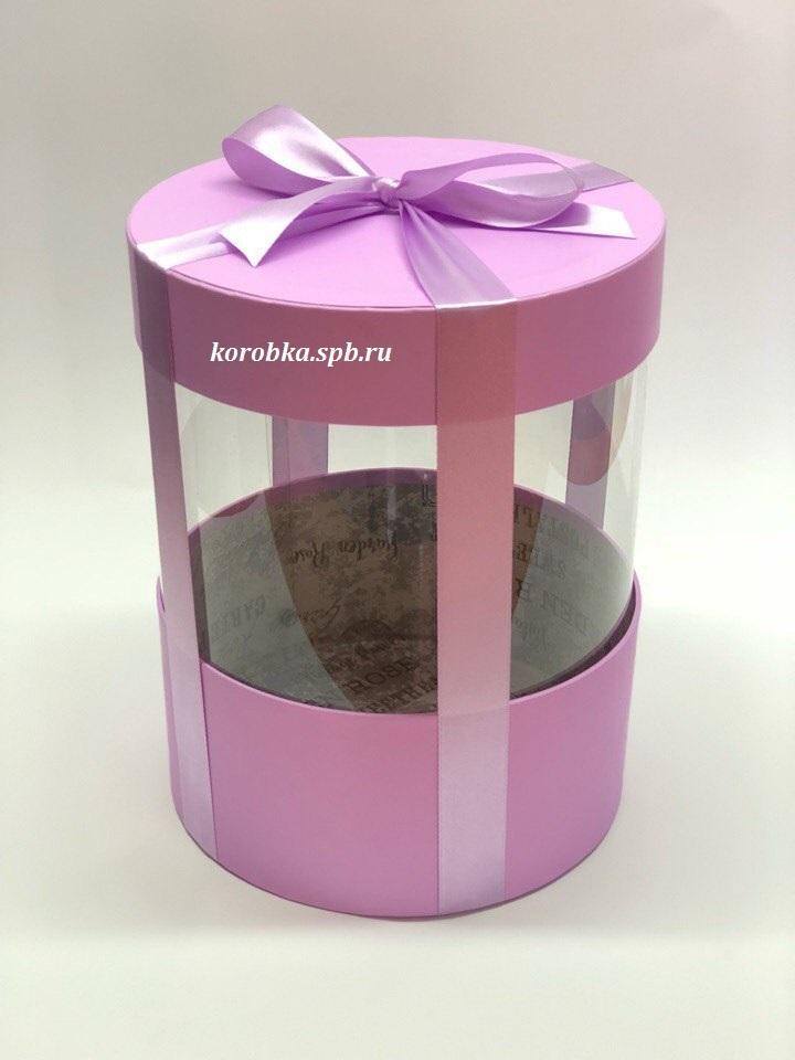 Коробка аквариум 22,5 см Цвет : Светло лиловый  . Розница 400 рублей .