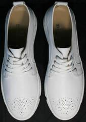 Модные спортивные туфли кроссовки повседневные женские Derem 18-104-04 All White