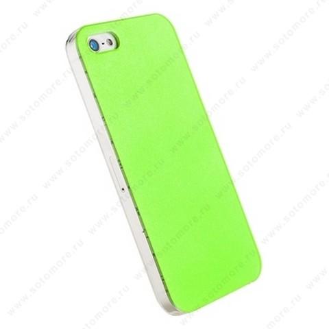 Накладка POMOSER для iPhone SE/ 5s/ 5C/ 5 зеленая